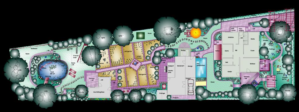 Gestaltungsplan für Garten Ziegler
