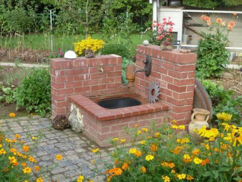 Wasserstelle im Nutzgarten