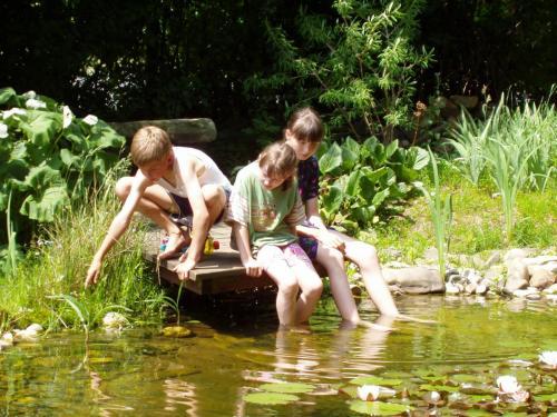 Kinder am Teich