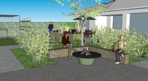 3d Gartengestaltung Feuerstelle